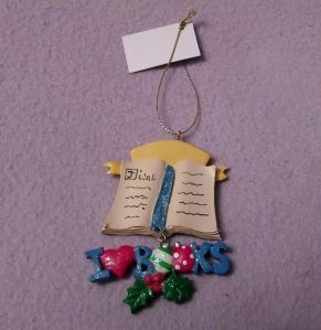 I Love Books ornament